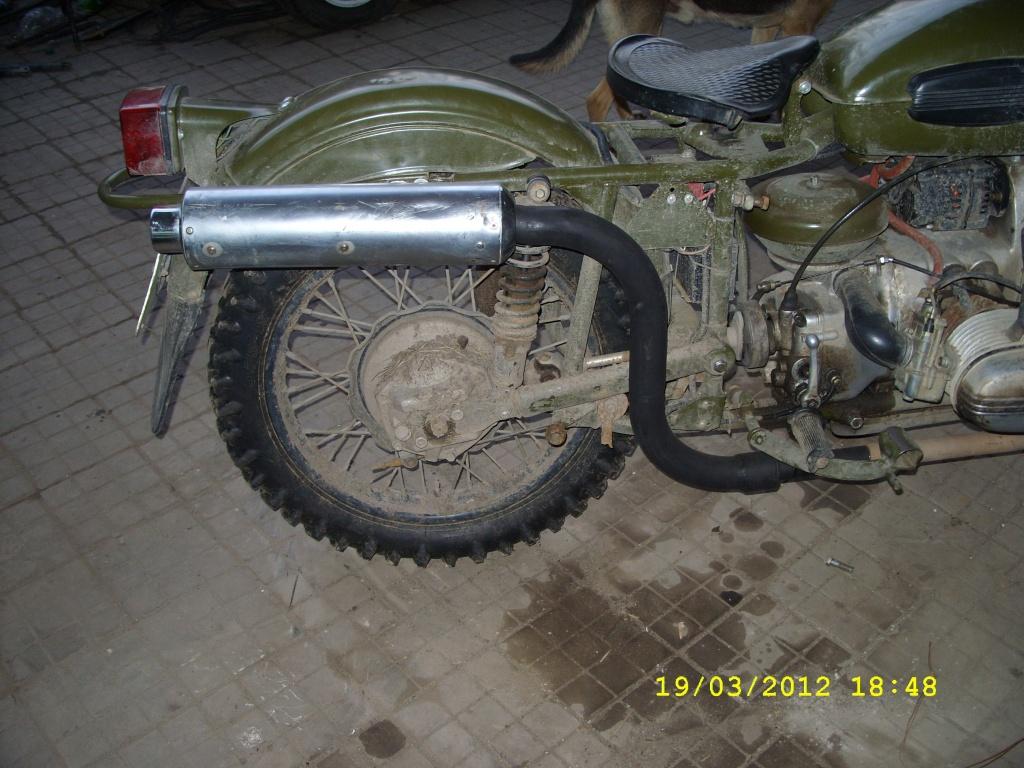 Выхлоп на мотоцикл урал своими руками 68