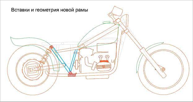 Схемы переделанных мотоциклов