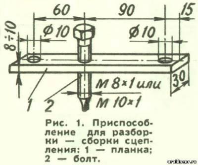 Приспособление для разборки и сборки сцепления мотоциклов Урал и Днепр.