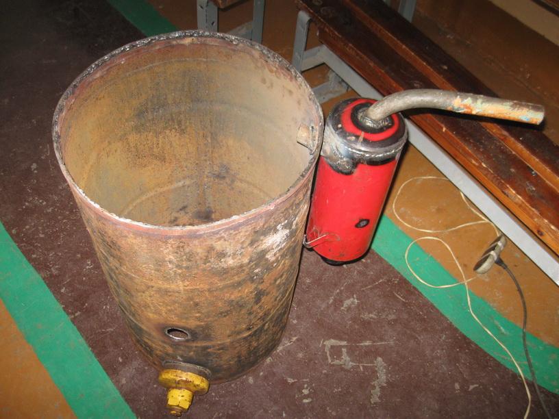 Изготовление газогенератора на дровах 107