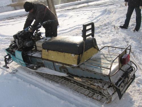 Снегоход из мотоцикла УРАЛ