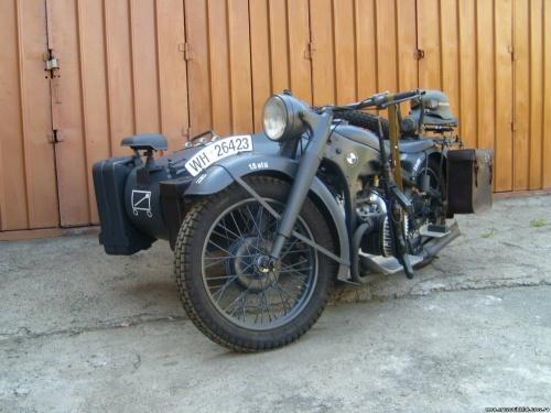 немецкий Мотоцикл БМВ р 72 #10