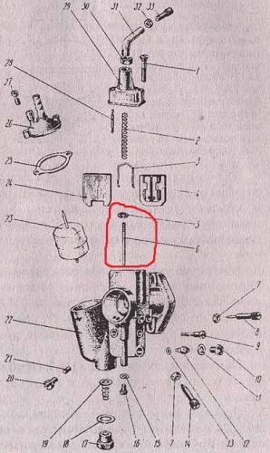 Схема карбюратора К-301 приведена на рис. 3.3.  В состав карбюратора входят дозирующие системы: главная и система...