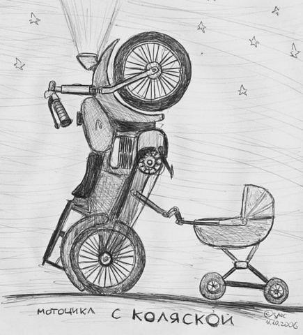 рисунки мотоциклов: