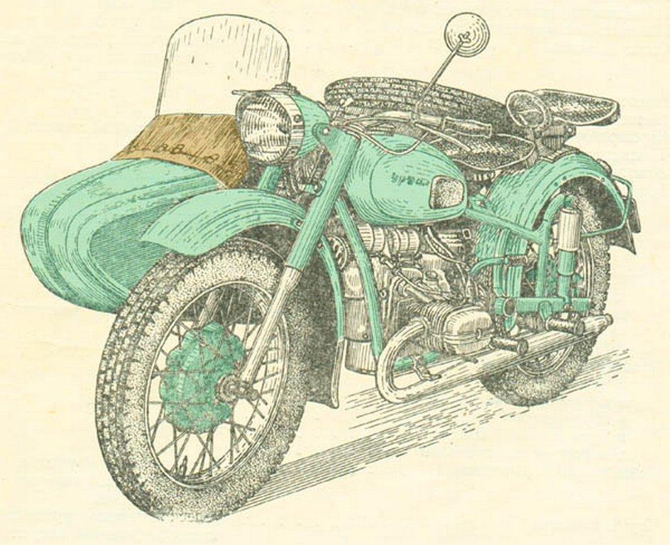 Рисунки урала мотоцикла