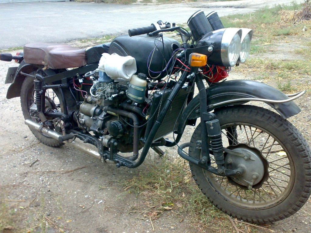 Мотоцикл с двигателем от оки