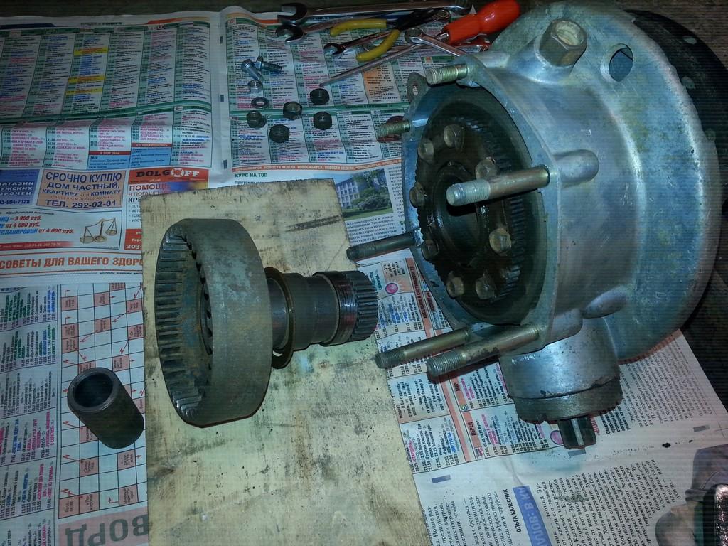 шестерня привода заднего колеса
