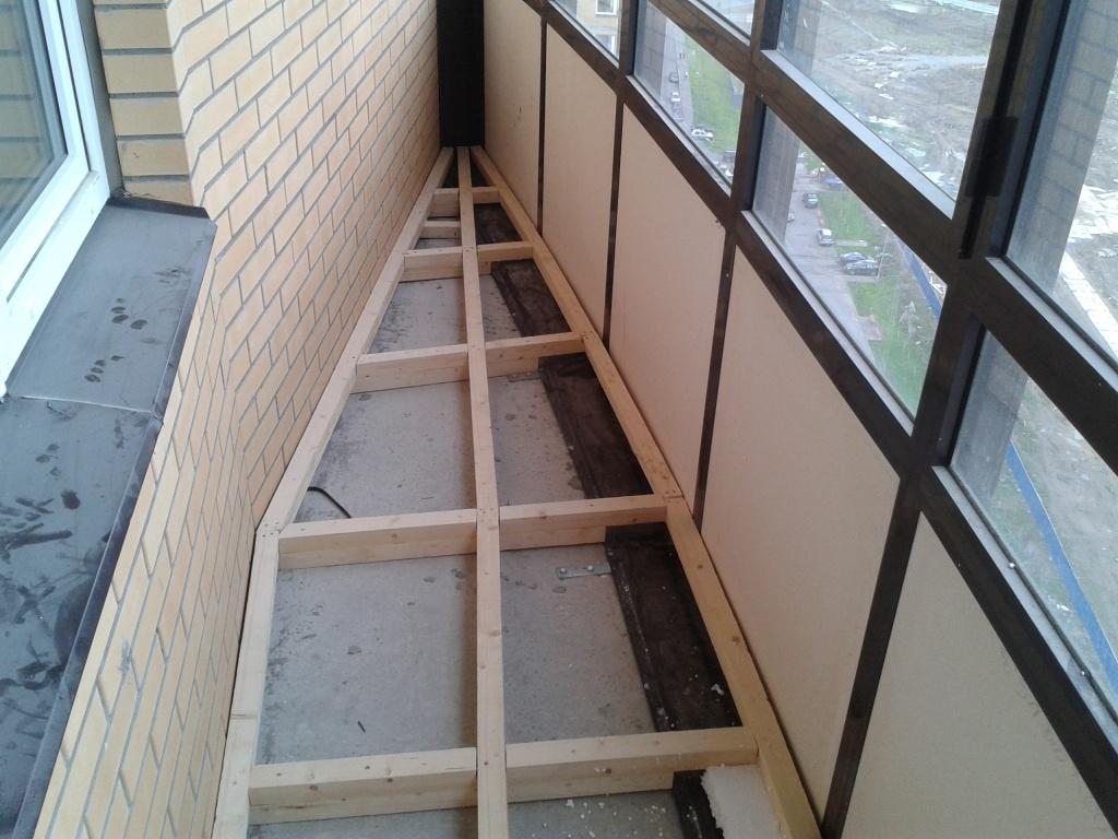 Как сделать пол на балконе из доски 821