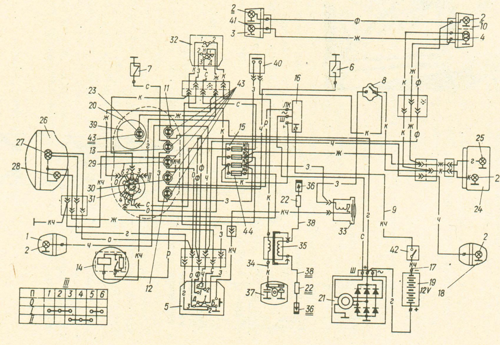 схема зажигания мото 650сс