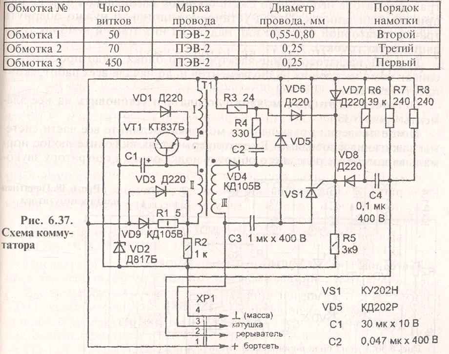 Мото схема электронного