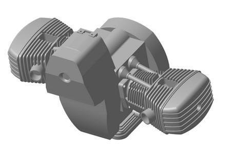 модель двигателя ДНЕПР